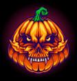 halloween scary skull jack o lantern faces vector image
