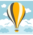 hot air balloons on the sky vector image vector image