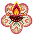 Indian Floral decorative design vector image vector image