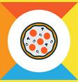 italian pizza icon colored line symbol premium vector image