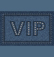 jeans vip poster vector image