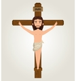 Jesus christ crucified design isolated vector image vector image
