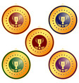 medal first place on a white background vector image