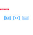 message email icon in line outline filled outline vector image