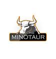 minotaur vector image vector image