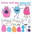 Monster creation kit vector image