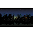 night city view vector image vector image