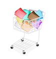 Nine Colors of Tabbed Folder in Shopping Cart vector image vector image