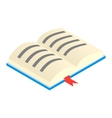 Open textbook isometric 3d icon vector image vector image