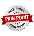 pain point round isolated silver badge vector image vector image