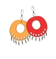 Pair of ethnic jewelry vector image