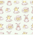 pattern easter pictures vector image vector image