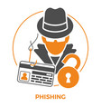 phishing concept icons vector image