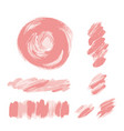 Pink brush strokes set pale pink rose texture