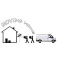 representation moving home vector image vector image