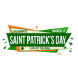 saint patricks day banner design vector image