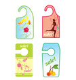 sale spring label vector image