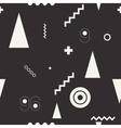 Seamless geometric pattern black and wiht vector image