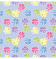 seamless pattern from the tied ribbons in pastel t vector image