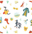 seamless pattern with magic items and tools vector image vector image