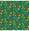 Seamless pattern with set of different school vector image
