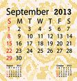 september 2013 calendar albino snake skin vector image