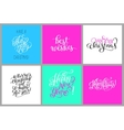 set colorful hand lettering christmas phrase vector image vector image