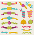 set colorful ribbons for your text vector image