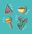 set fashion patches trendy design vector image