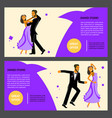 set of flares with happy young dancers vector image