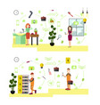 set of professional workers symbols in vector image vector image