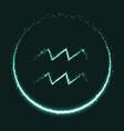 shiny astrological symbol of aquarius vector image vector image