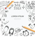 sketch business idea elements template vector image