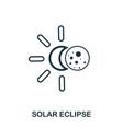 solar eclipse icon flat style icon design ui vector image vector image