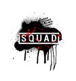 squad - abstract pubg vector image vector image