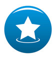 star icon blue vector image