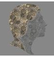 steampunk girl vector image