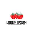 strawberry logo design concept template vector image
