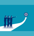 success business team analysis to success vector image vector image