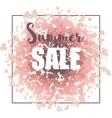 Summer sale background for print web design and vector image vector image