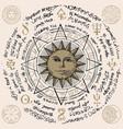 sun in an octagonal star vector image vector image