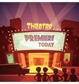 Theatre Building vector image vector image