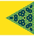 Triangle Green on Yellow Symmetry Ornament Pattern vector image vector image
