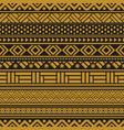 tribal seamless pattern geometric seamless vector image vector image