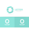 unique letter o logo design template vector image