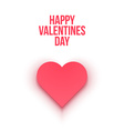 Valentines Day heart Isolated vector image vector image