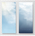 vertical banners with sky and clouds vector image vector image