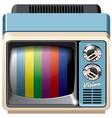 Vintage television receiver icon vector image vector image