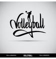 Volleyball hand lettering - handmade calligraphy vector image