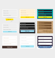 Web forms collection vector image vector image